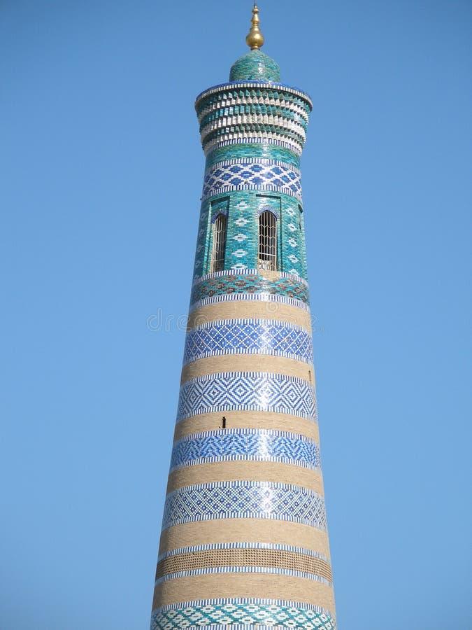 khiva minaret Uzbekistan zdjęcia stock