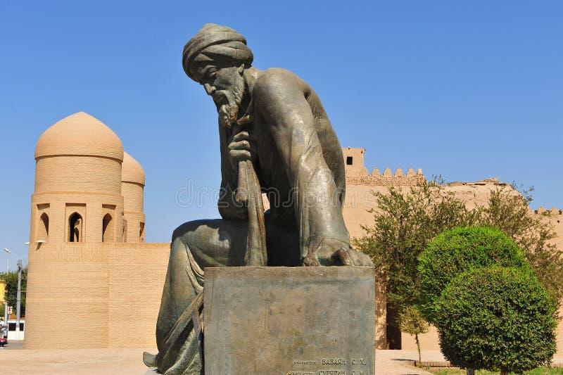 Khiva: Monumento di Muso del ibn di Muhhamad fotografie stock libere da diritti