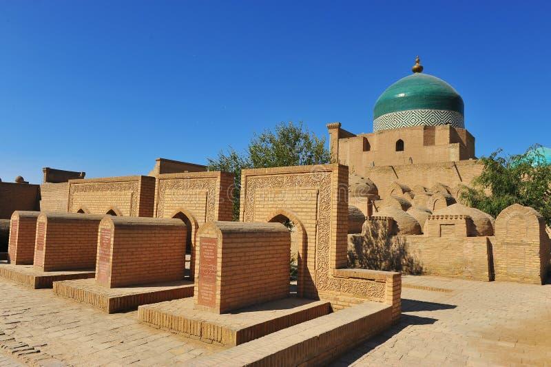 Khiva: moschea e tombe fotografie stock