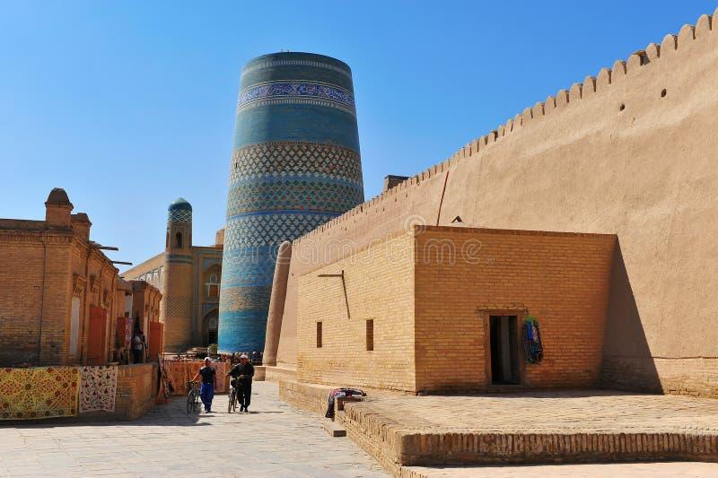 Khiva: nella via di vecchia città fotografia stock libera da diritti
