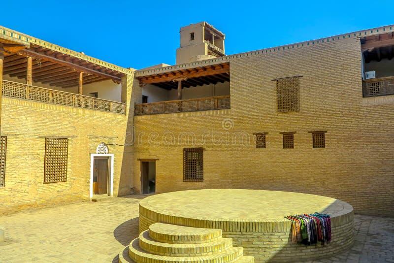 Khiva Old City 40. Khiva Old Town Kunya Ark Citadel Ak Sheikh Bobo Courtyard with Circle Shaped Platform royalty free stock photos