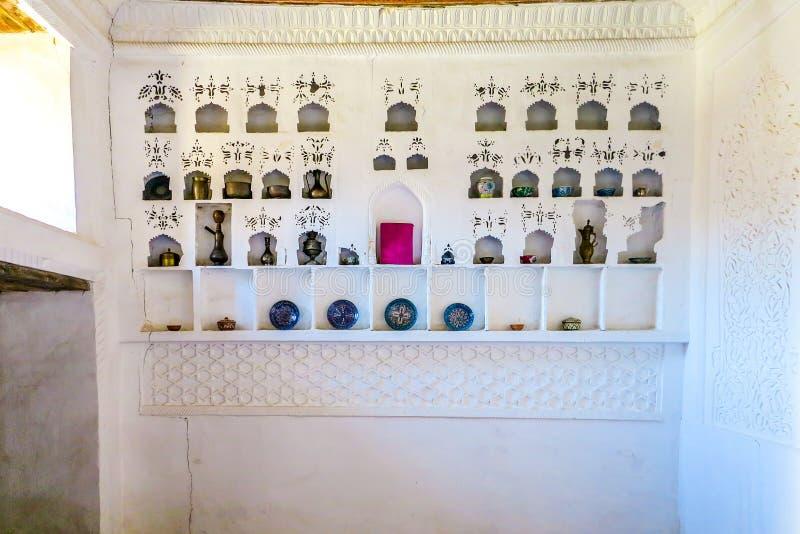 Khiva Old City 39. Khiva Old Town Kunya Ark Citadel Ak Sheikh Bobo Tea Coffee Can and Porcelain Room royalty free stock photos
