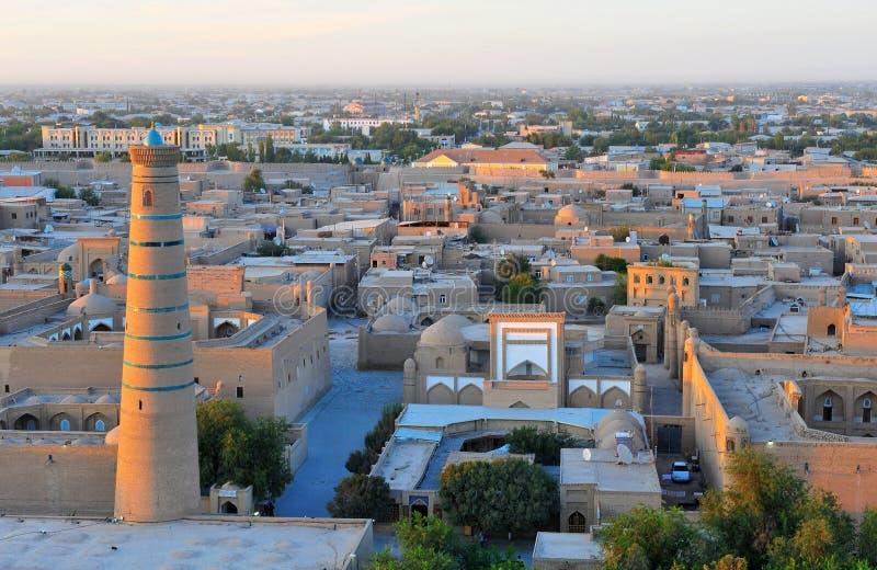 Khiva: orizzonte medievale fotografia stock