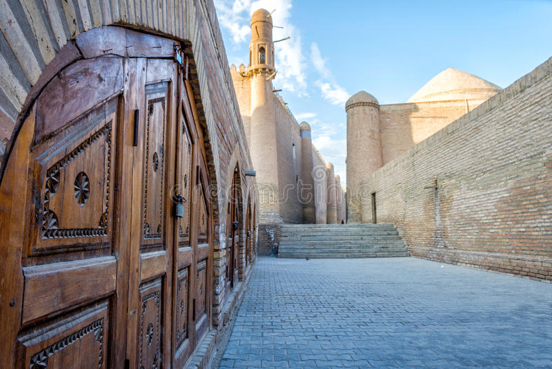 Khiva oude stad, Oezbekistan stock afbeelding