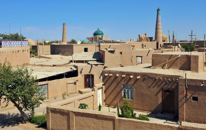 Khiva: piccola città storica, l'Uzbekistan immagine stock libera da diritti