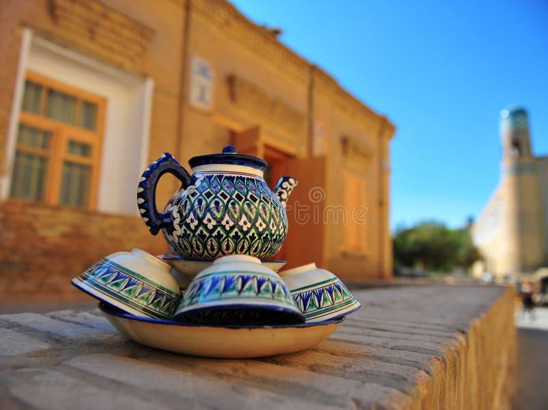 Khiva: ricordi fatti a mano fotografia stock