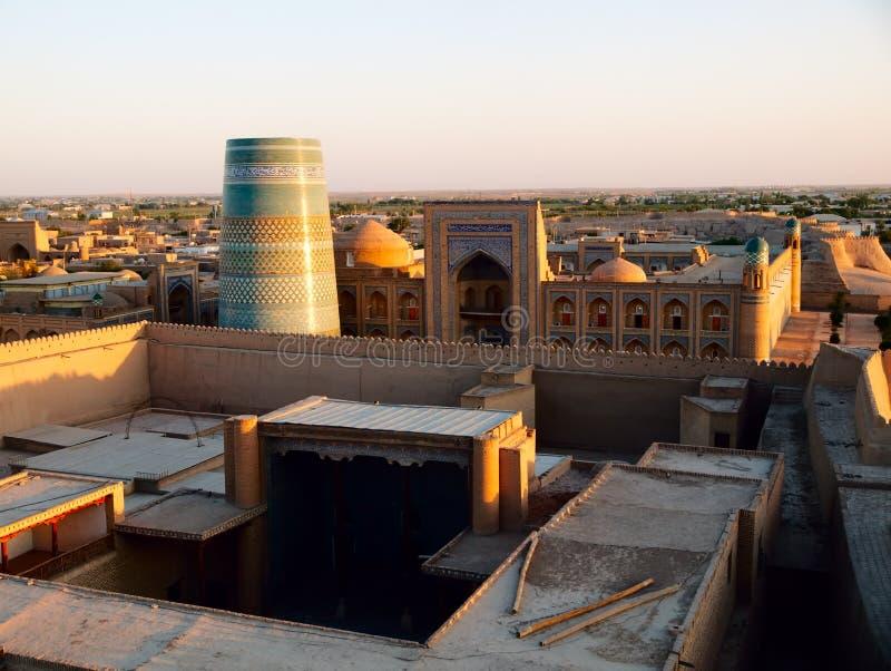 Khiva at sunset stock photography