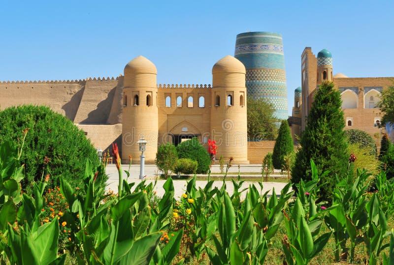 Khiva: vecchia città medievale fotografia stock