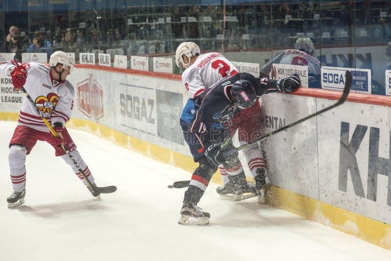 KHL曲棍球联盟比赛 免版税库存图片