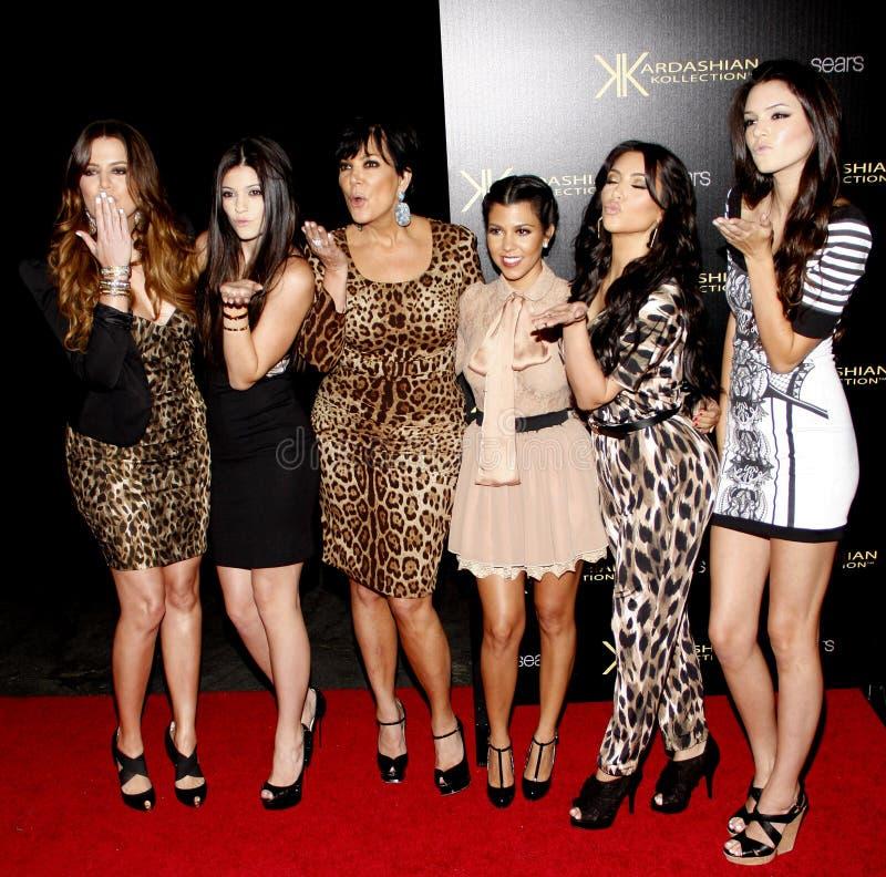 Khloe Kardashian, Kylie Jenner, Kris Jenner, Kourtney Kardashian, Kim Kardashian et Kendall Jenner images stock