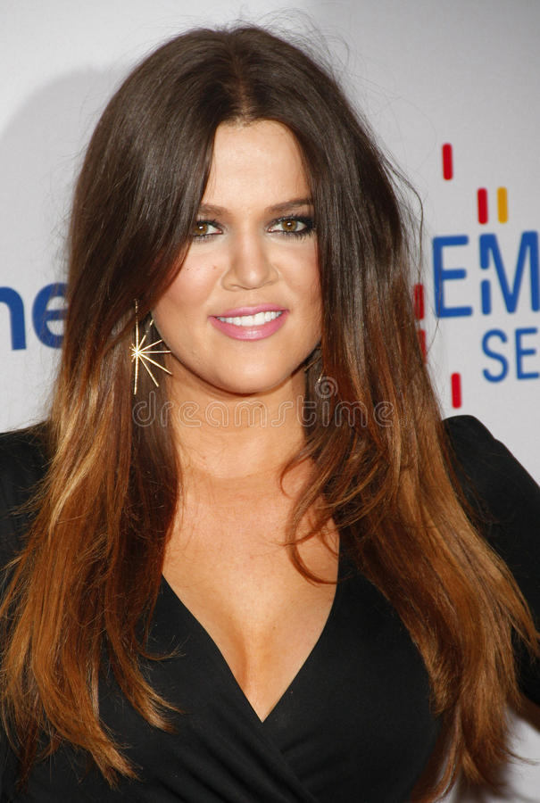 Khloe Kardashian stock photography