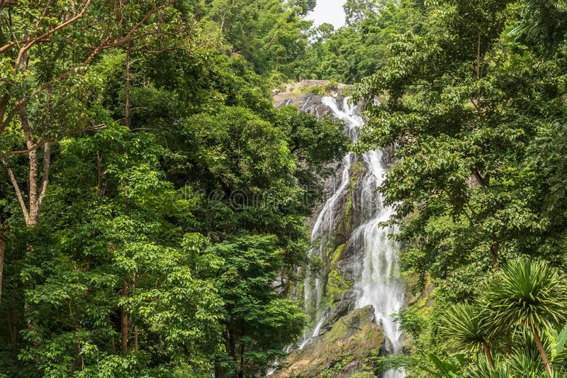 Khlong Lan siklawa, Piękne siklawy w khlong Lan nationa obraz stock