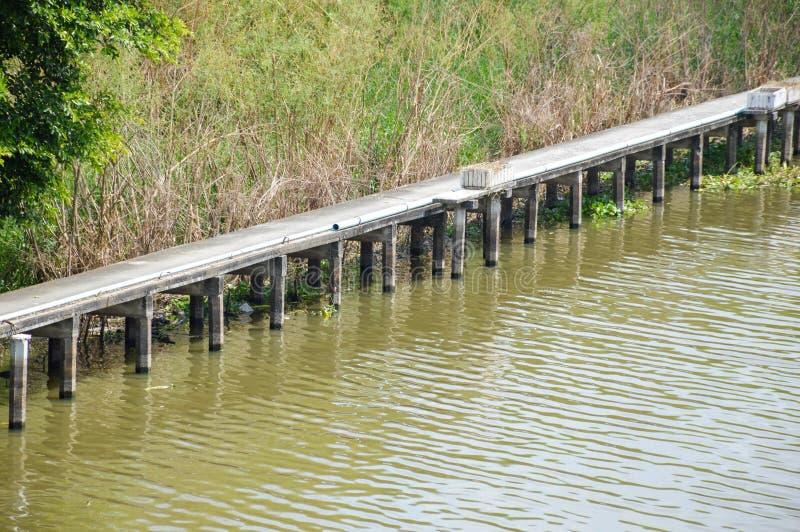 Khlong Preng运河在国家Chachoengsao泰国 免版税图库摄影