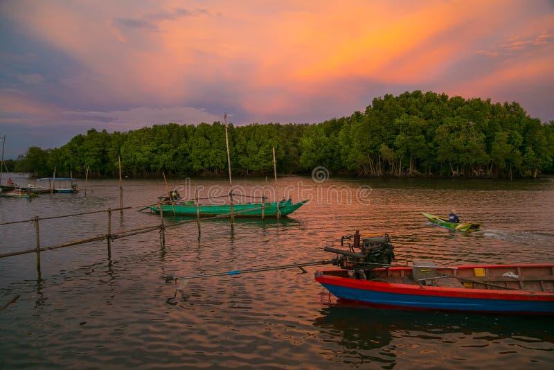 Khlung flod på Chanthaburi royaltyfria foton