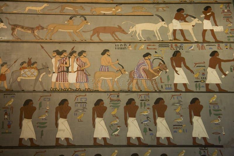 KHM Ägypten Ausstellung - Zeichnungen lizenzfreies stockfoto