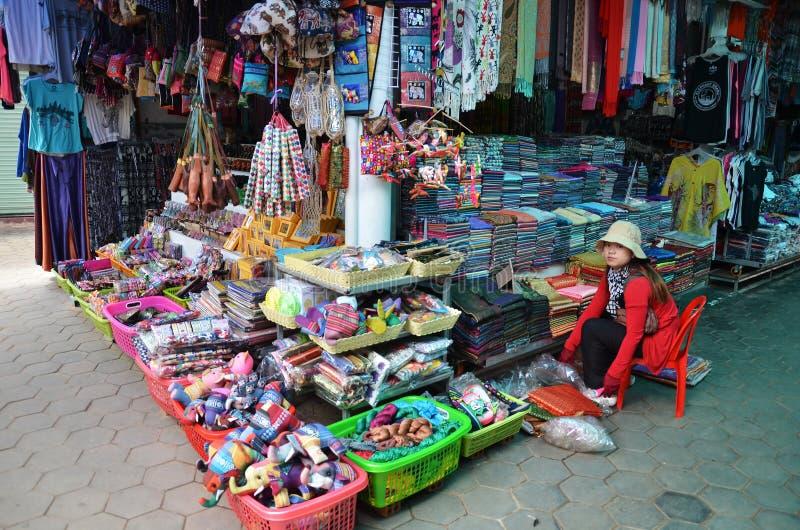 Khmer υφάσματα για την πώληση σε μια αγορά στοκ φωτογραφία με δικαίωμα ελεύθερης χρήσης
