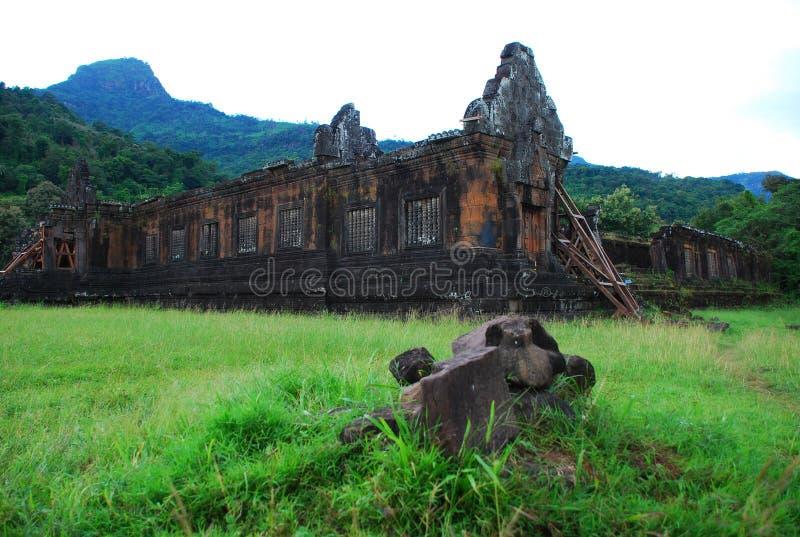 khmer antyczny phou rujnuje wat fotografia royalty free