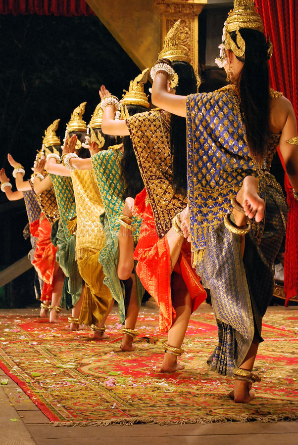 Download Khmer apsara dance editorial stock photo. Image of event - 17647993