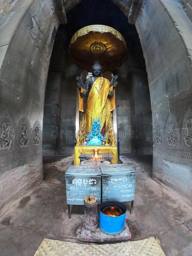 Khmer Cambogia di buddismo di religione di Angkor Wat immagini stock libere da diritti