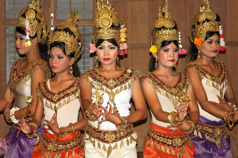 Download Khmer classical dance editorial stock image. Image of editorial - 28878379