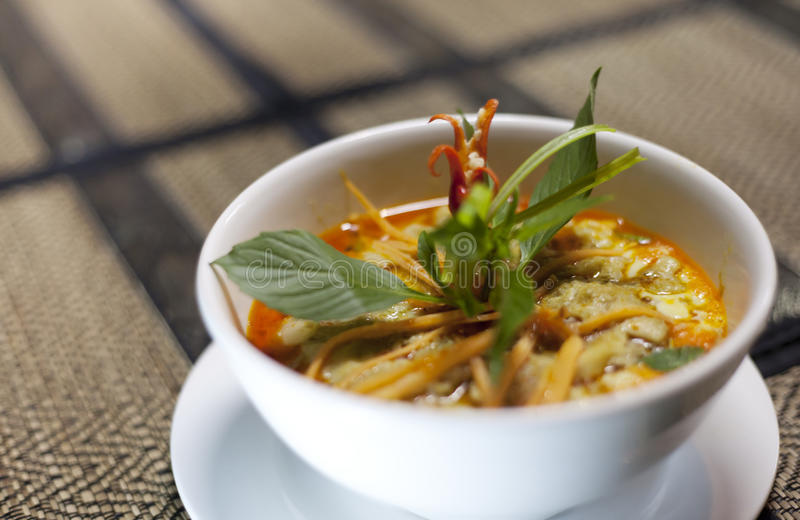 Khmer Food. Amok chicken khmer food plate stock image