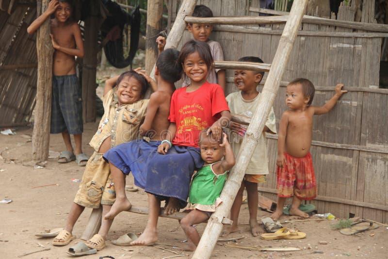 Khmer-Kinder von Kambodscha stockbild