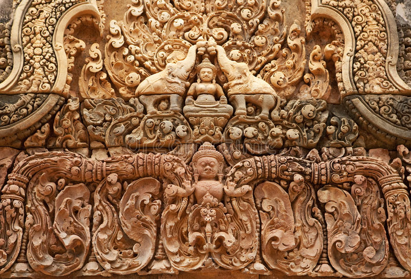 Download Khmer Relief In Banteay Srei Stock Photo - Image: 15856316