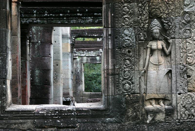 Khmer Tempel stock afbeelding