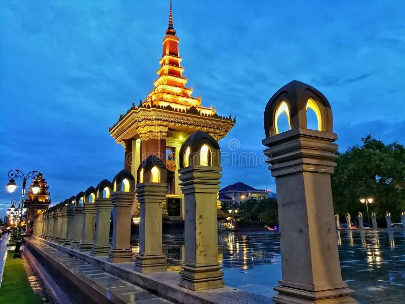 Khmer tempel stock fotografie