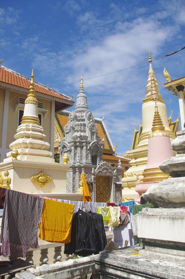 Khmer Temple In Phnom Penh Stock Photo