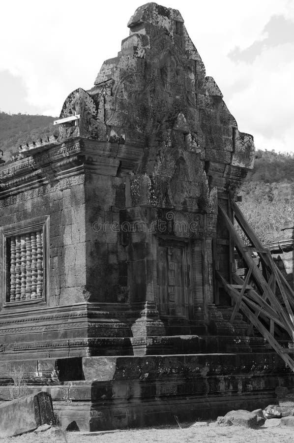 Khmer-templer och världsarvet Vat Phou nära Pakse i södra Laos arkivbilder