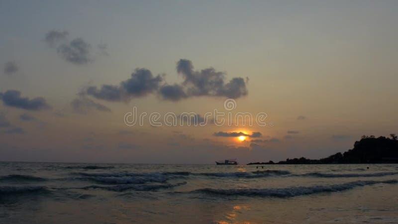 Kho Chang plaża w Tajlandia - timelapse zbiory