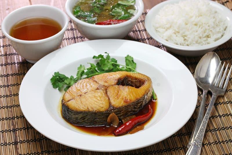 Kho de COM Ca thu, cocina vietnamita imagen de archivo
