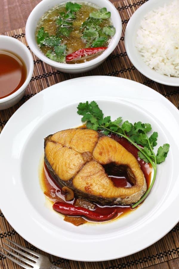 Kho de COM Ca thu, cocina vietnamita foto de archivo libre de regalías