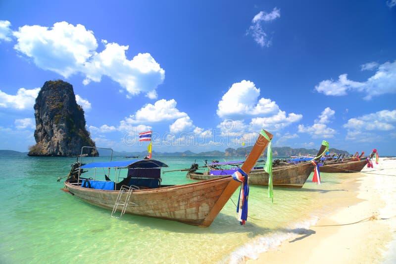 Kho Poda i Krabi Thailand royaltyfria foton