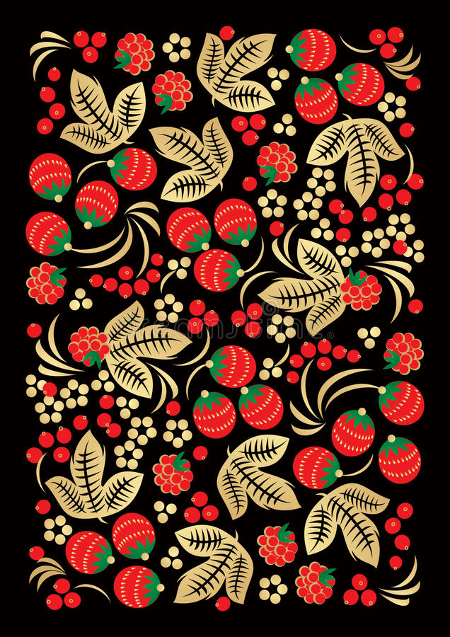 Download Khokhloma Style Russian Handicraft Ornament Stock Vector - Image: 24149879