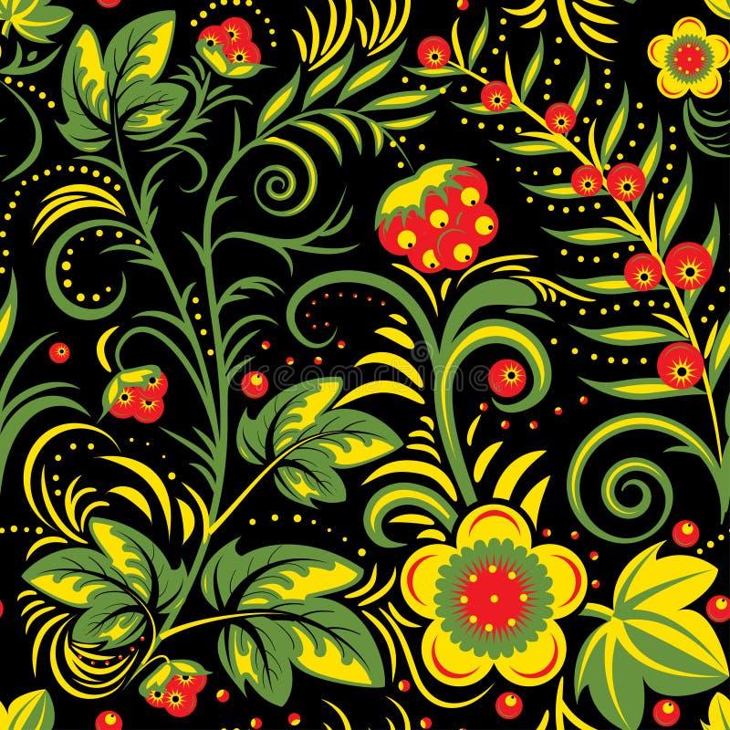 Khokhloma traditionnel illustration stock
