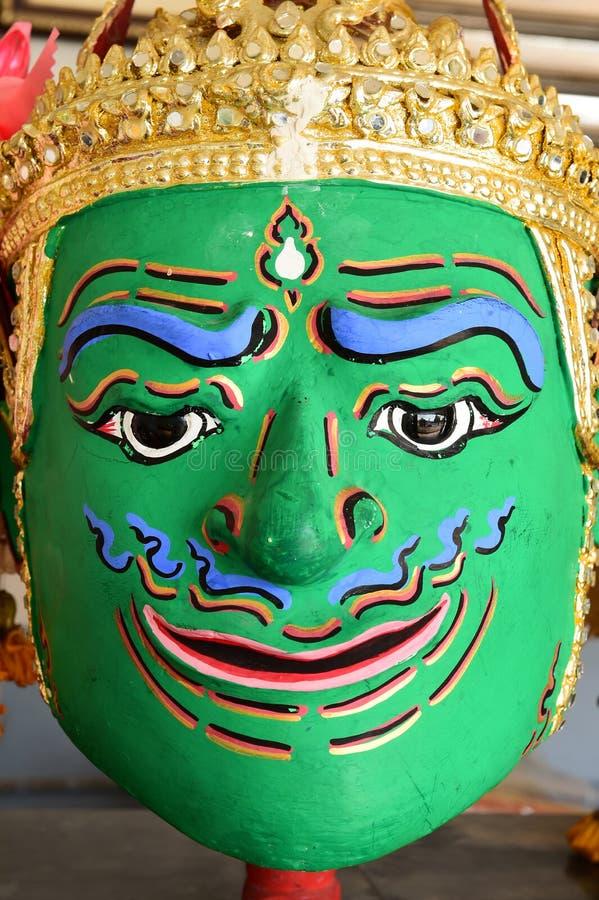 Khon, маска Анджела в родном тайском стиле стоковая фотография rf