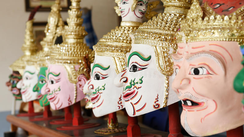 Khon, маска Анджела в родном тайском стиле стоковые изображения rf