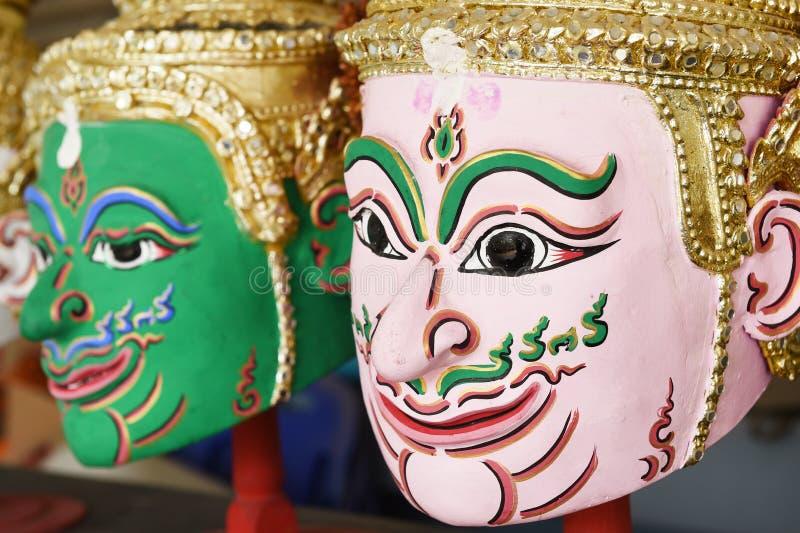 Khon, маска Анджела в родном тайском стиле стоковые фото
