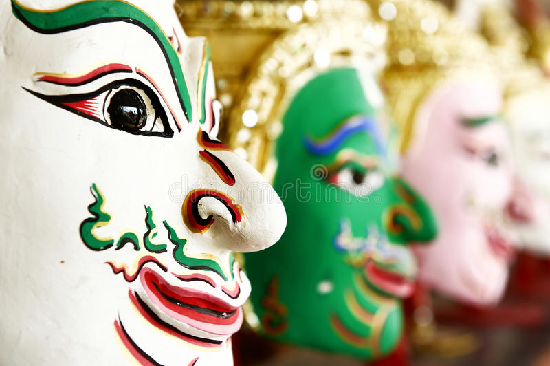Khon, маска Анджела в родном тайском стиле стоковые фотографии rf