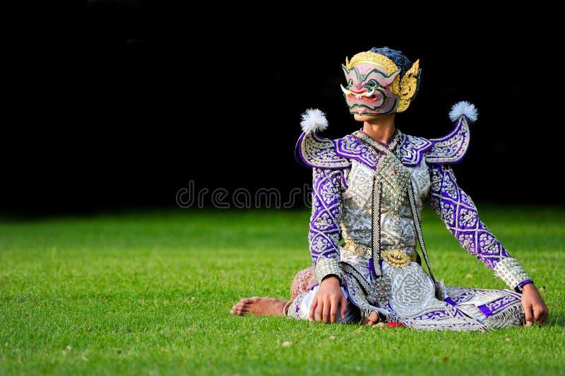 khon танцульки тайское стоковое изображение rf