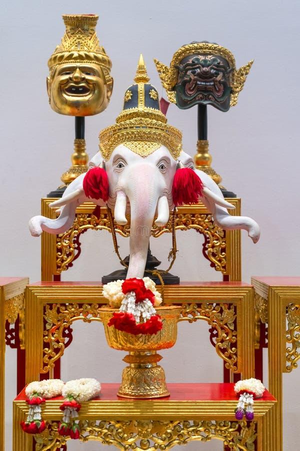 Khon bonito mascara a epopeia de Ramayana fotos de stock