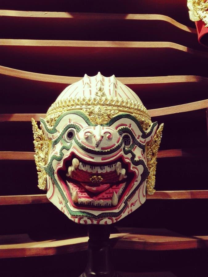 Khon Hanuman Thailand klassischer thailändischer Tanz lizenzfreies stockbild
