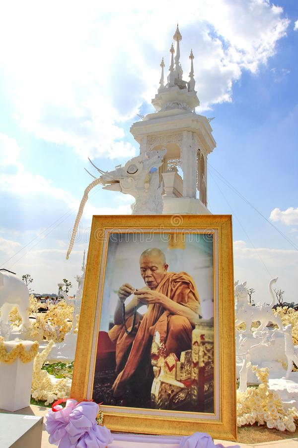 Khon kaen/Thailand-January 26 2019 : Funeral of the Famous Monk in Thailand Luang Pho Khun , Burned on the Hastilinga because in. Buddhism believes that this stock photography