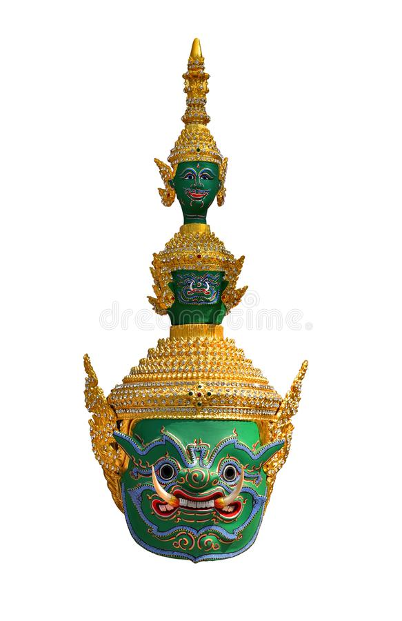 Khon-Maske, riesig stockfotografie