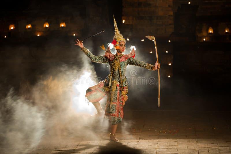 KHON Rama TAJLANDZKI charakter w Ramayana opowieści W Tajlandzkiej literaturze ja zdjęcie stock