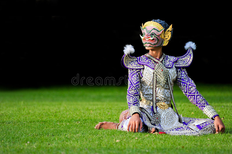 Khon-Siamesischer Tanz lizenzfreies stockbild