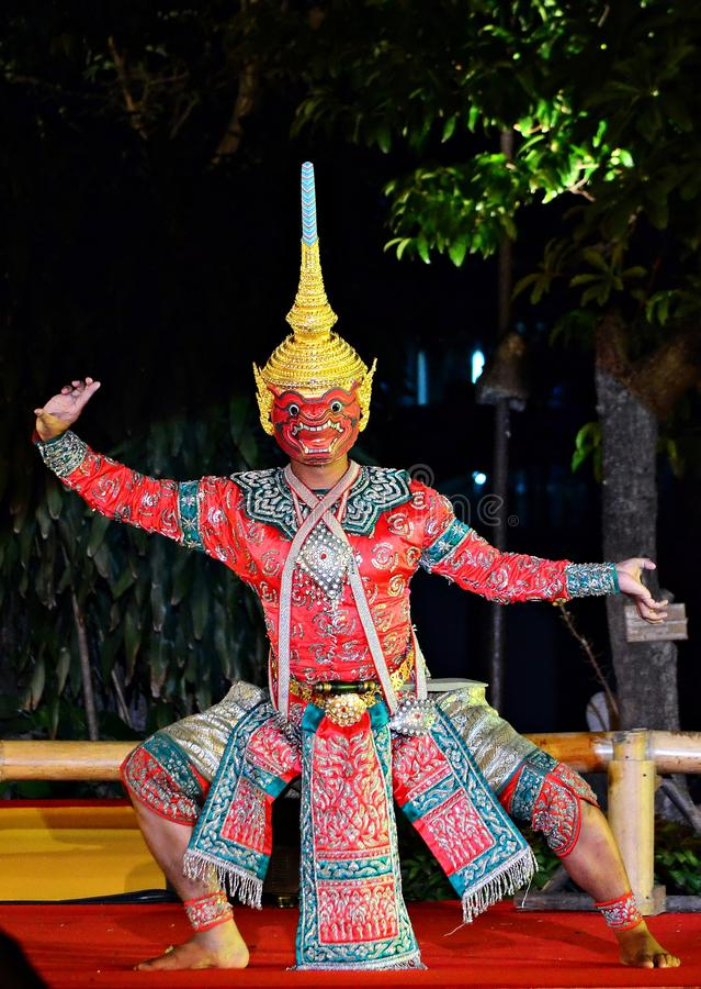 Khon tailandese immagini stock