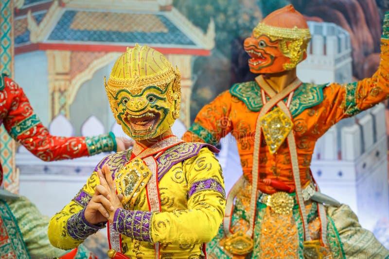 Download Khon - Tajlandzki Tradycyjny Maskowy Taniec Obraz Editorial - Obraz złożonej z maska, asia: 53777905